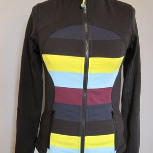 Lululemon Define Black Stripe Front Jacket Top
